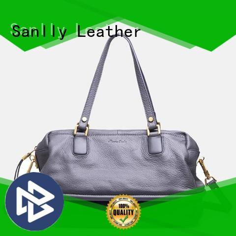 Sanlly tote ladies leather handbags winter suede for women