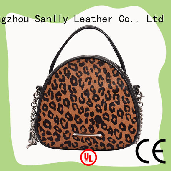 Leopard Haircalf Design Top Pebble Leather Stylish Shopping Ladies Bag