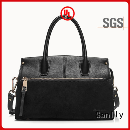 solid mesh leather purses and handbags for wholesale Sanlly