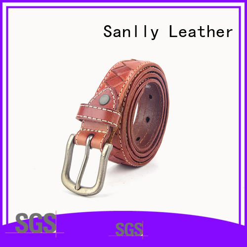 Sanlly customized unique mens leather belts supplier for shopping