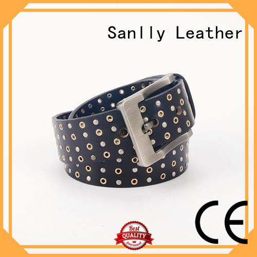 Sanlly portable mens full leather belts OEM for men