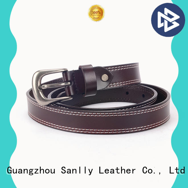 Sanlly cow mens all leather belts supplier for shopping