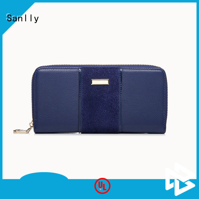 Sanlly holder leather zip wallet women's get quote for girls