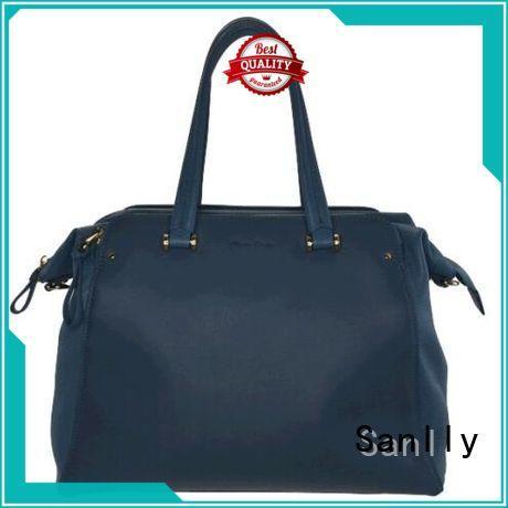 Sanlly handbag ladies leather handbags leopard haircalf design for women