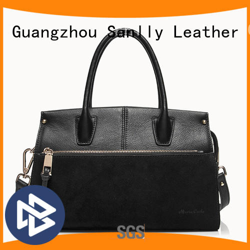 Sanlly Breathable black soft leather handbags Supply
