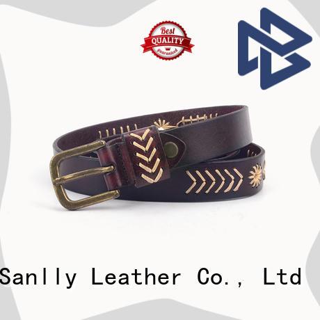 Sanlly mens nice belts for men free sample for shopping