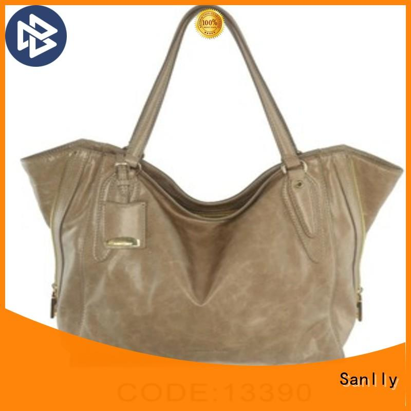 Sanlly leather ladies leather handbags winter suede for fashion