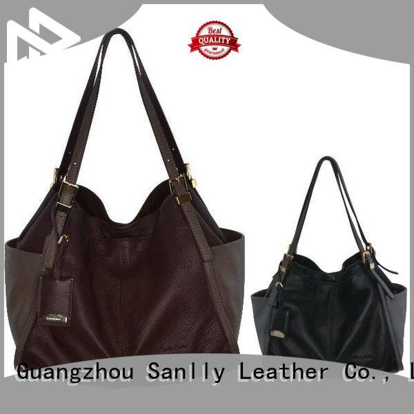 Sanlly tote womens black purse leopard haircalf design for summer