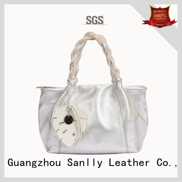 Sanlly eyelet women's genuine leather handbags get quote for girls