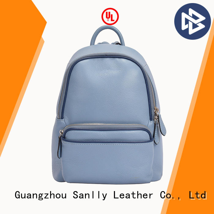 Sanlly high-quality ladies leather backpack bags customization for modern women