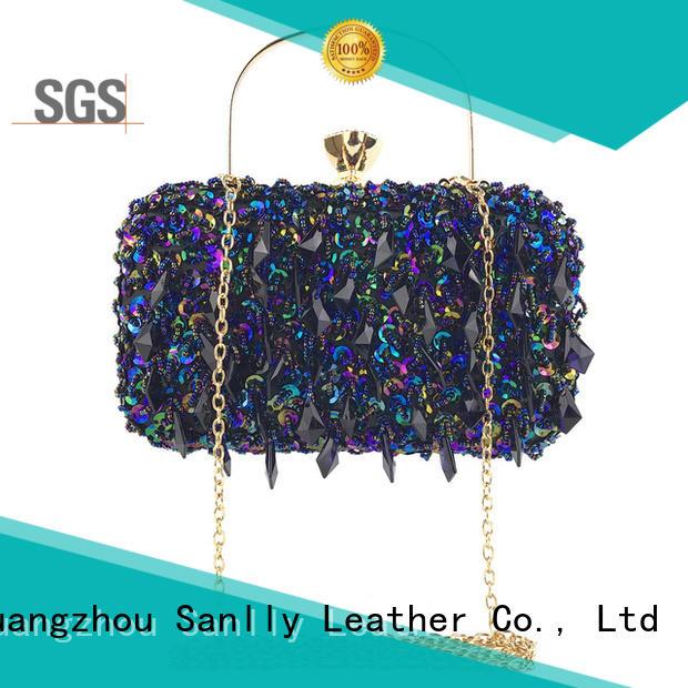 Sanlly Latest shop handbags online leopard haircalf design for summer