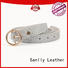 Top burgundy leather belt womens stones Suppliers
