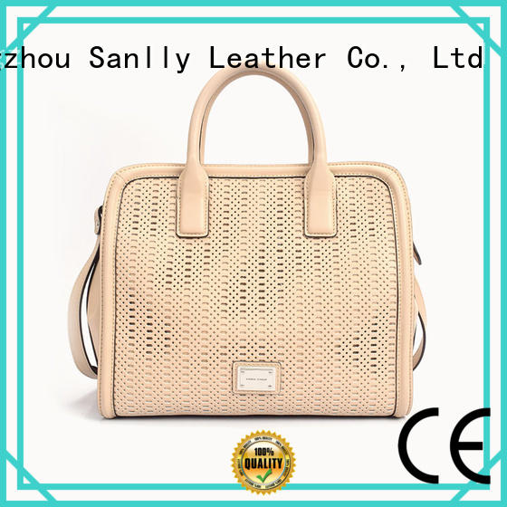 Sanlly smooth ladies leather handbags online OEM for modern women