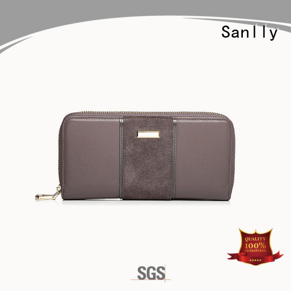 Sanlly portable zip up wallet womens supplier for shopping