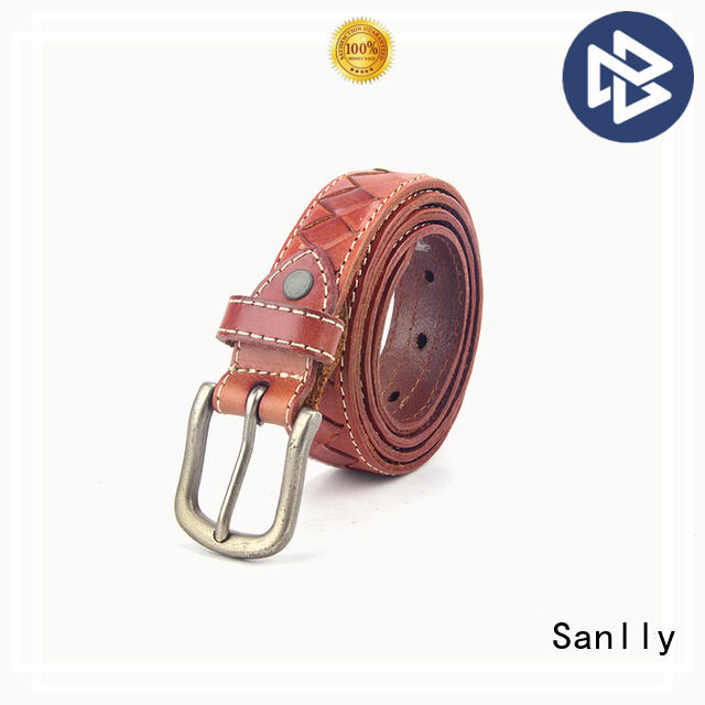 Sanlly solid mesh mens casual belts OEM for girls