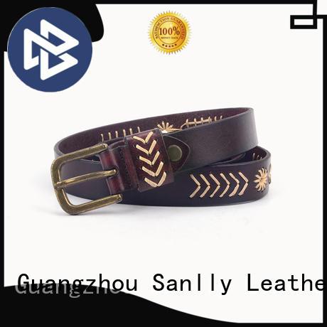 Sanlly portable designer dress belts customization for modern men