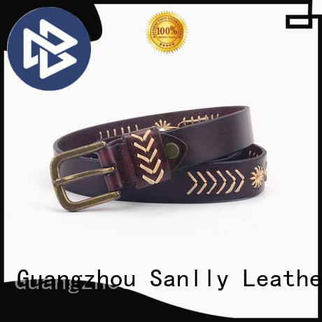 Sanlly portable designer dress belts customization for modern men
