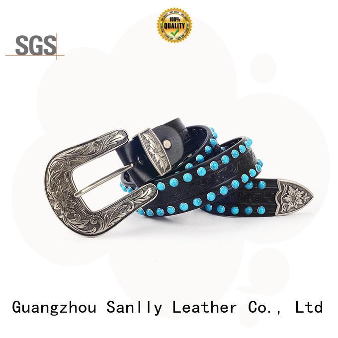 Sanlly fashion womens navy elasticated belt bulk production