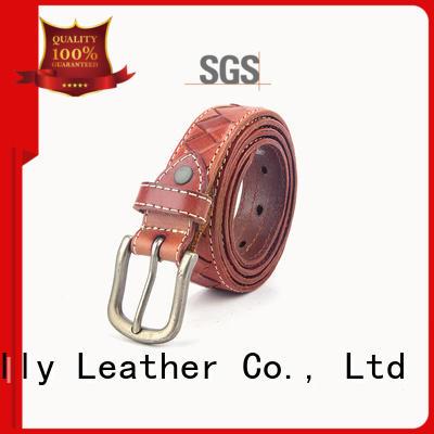 New mens brown belt gold buckle belts bulk production for men