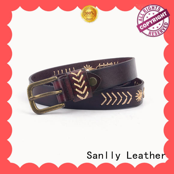 Sanlly on-sale mens full leather belts supplier for modern men