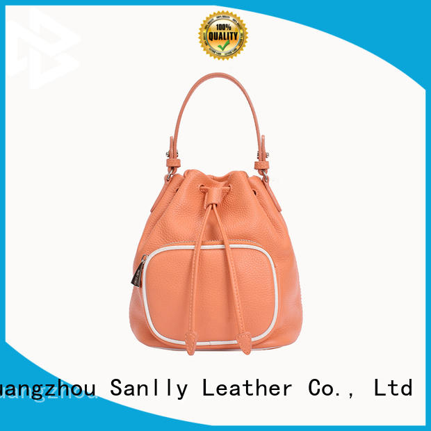 Custom fashionable leather tote grain bulk production for shopping