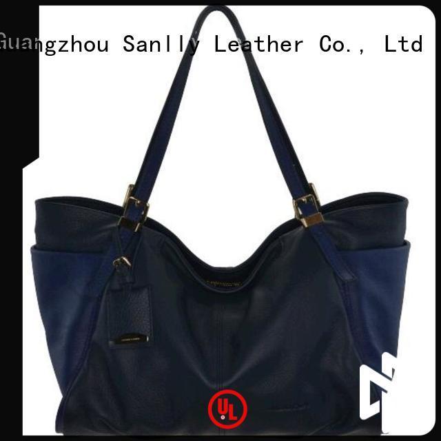 Sanlly Custom ladies grey handbags winter suede for women
