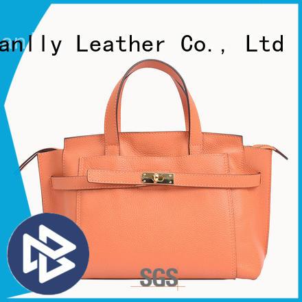 Sanlly smooth italian leather handbags supplier for modern women