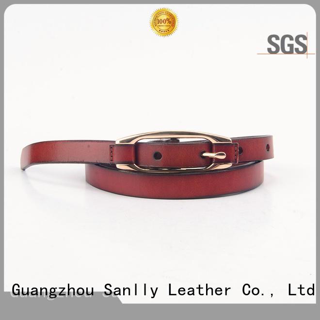 Sanlly punk mens western leather belts OEM for men