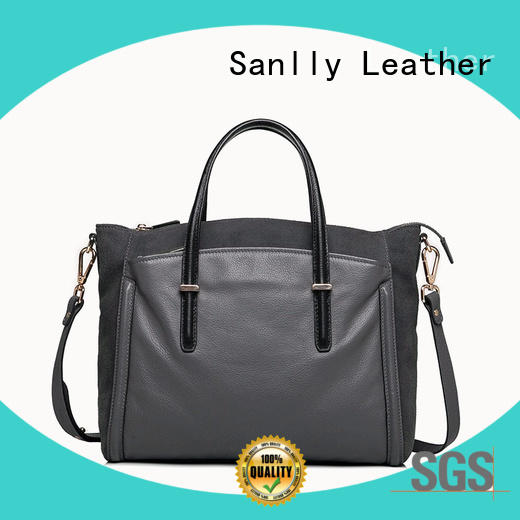 Sanlly latest womens leather tote bag OEM for modern women