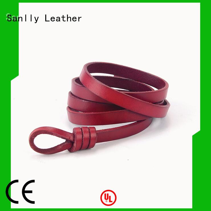 Sanlly belts ladies black suede belt manufacturers