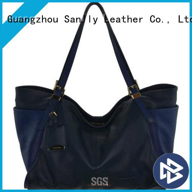 Sanlly tote ladies leather handbags stylish for summer