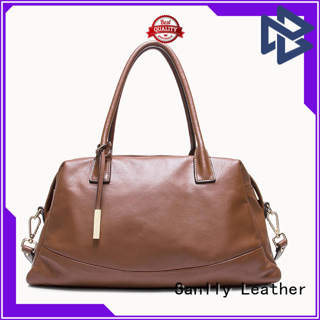 Sanlly women women's genuine leather handbags free sample for girls
