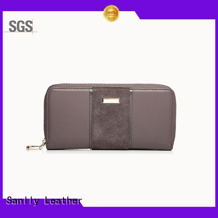 portable ladies leather purse wallet lady customization for women