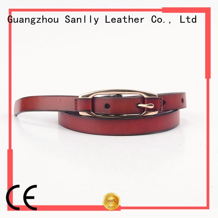 solid mesh men's leather belts handmade free sample for shopping