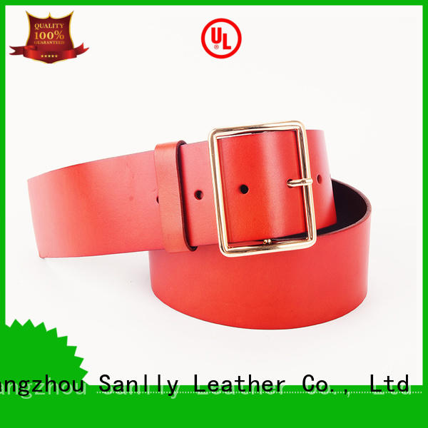 Sanlly New mens brown leather woven belt bulk production for shopping