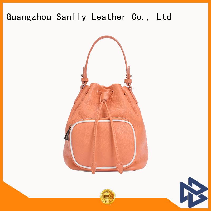 Sanlly bag ladies leather tote bag ODM for single shoulder