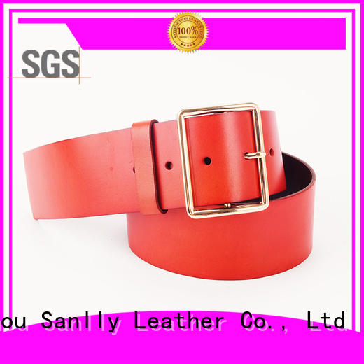 Sanlly belts mens full leather belts supplier for girls