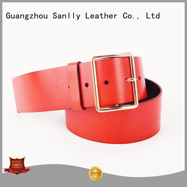 portable cool mens leather belts vegtan bulk production for girls