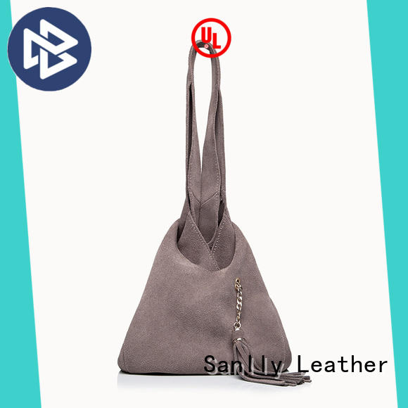 Winter Suede Ladies Leather Tote Bag Casual Leather Tote Bags