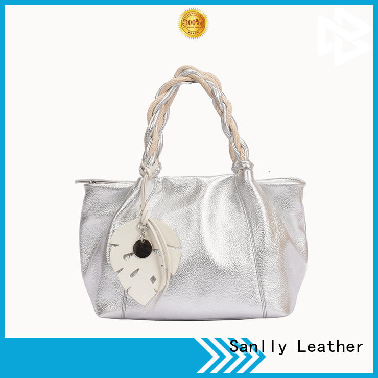 portable best women's leather handbags metal OEM for girls