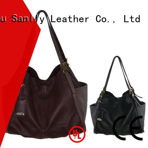 Sanlly wristlet ladies leather handbags stylish for fashion