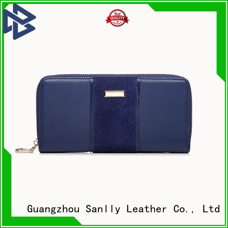 Sanlly haircalf best women's zip wallets for wholesale for girls