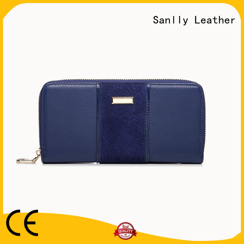 Sanlly zipper gold leather wallets ladies buy now for modern women