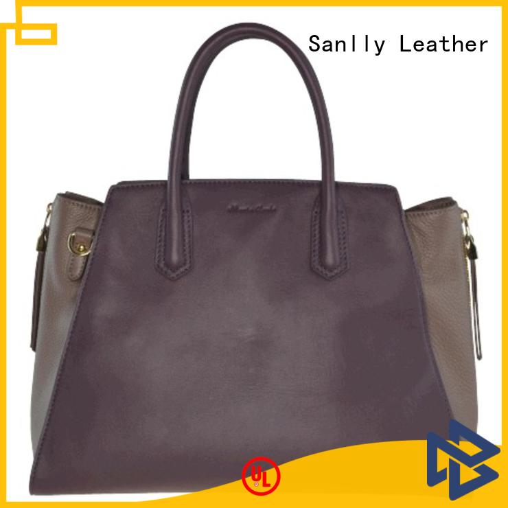High-quality small brown leather bag handbag leopard haircalf design for fashion
