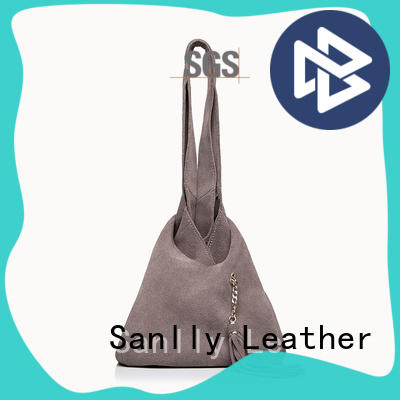 Sanlly Breathable classic leather tote bag small for girls