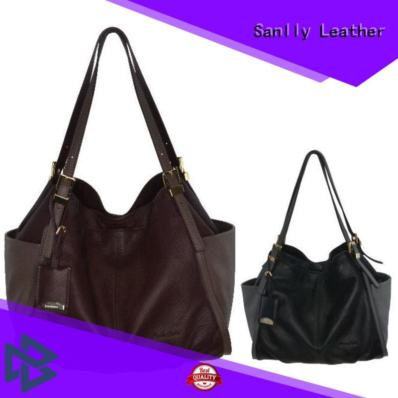 Sanlly favorable in price ladies leather handbags stylish for summer