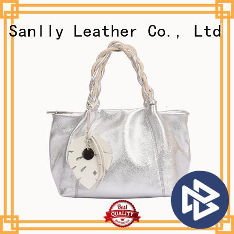 Sanlly funky womens leather tote handbags supplier for shopping