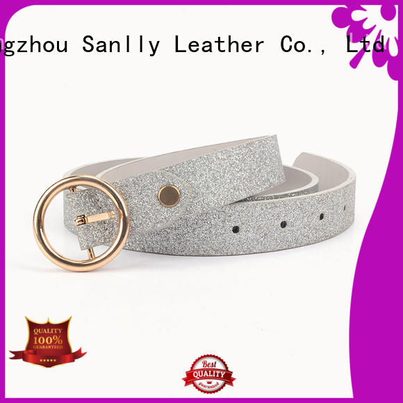 Sanlly high-quality ladies wide black belt company