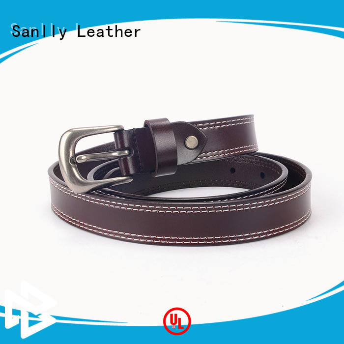 Sanlly design best mens leather belts customization for shopping