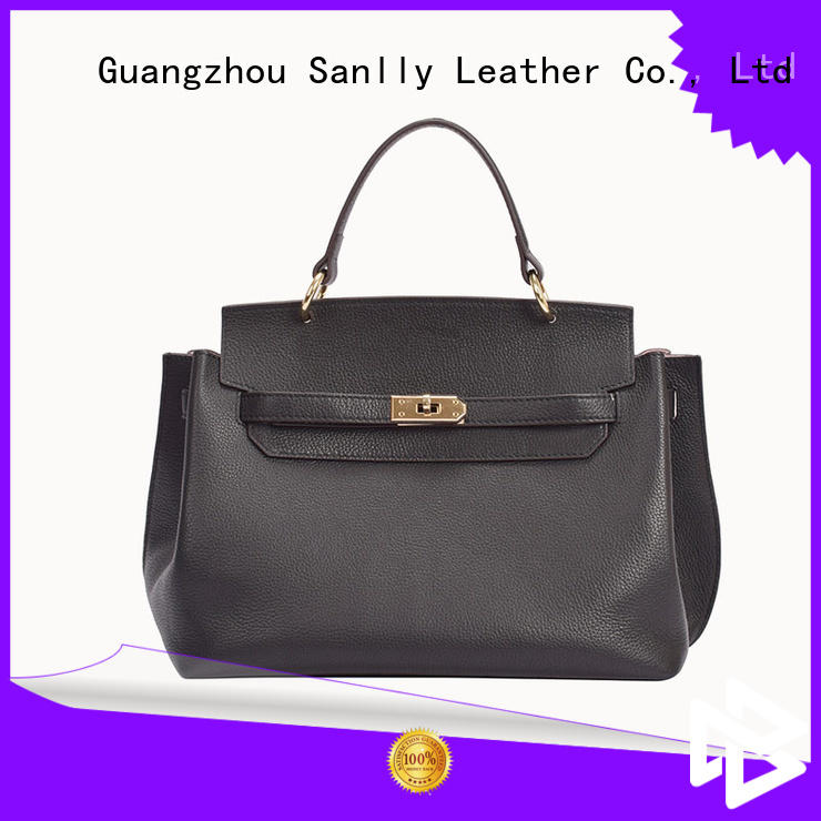 Sanlly Latest black soft leather handbags company for girls